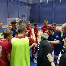 Lietuvos salės futbolo rinktinė antrą kartą pralaimėjo gruzinams