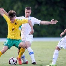 Lietuvos jaunimo futbolo rinktinė pralaimėjo Graikijoje