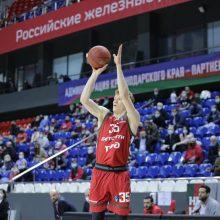 """M. Kalnietis strigo puolime, o """"Lokomotiv"""" vos įveikė Jungtinės lygos autsaiderį"""