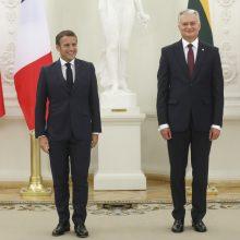 E. Macrono vizitas: Lietuva ir Prancūzija pasirengusios kurti vieningą Europą