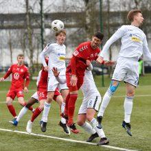 """""""Hegelmann Litauen"""" futbolininkai nutraukė pergalingą """"Panevėžio"""" žygį"""