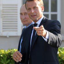 E. Macronas sveikina Rusijos sprendimą ratifikuoti Paryžiaus klimato sutartį