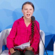 Klimato aktyvistė G. Thunberg kreipėsi į pasaulio lyderius: kaip jūs drįstate?