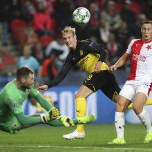 """Borussia"" iškovojo pergalę Prahoje, ""SSC Napoli"" prarado taškus Belgijoje"