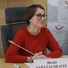 Seimas svarstys dėl B. Sabatauskaitės paskyrimo Lygių galimybių kontroliere