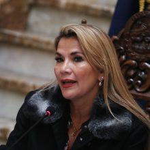 Bolivijos laikinoji prezidentė pateiks įstatymo projektą dėl valstybės vadovo rinkimų