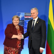 G. Nausėda su Norvegijos premjere aptarė gynybos ir energetinio saugumo klausimus