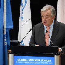 JT generalinis sekretorius: prieglobsčio teikimo sistemai yra iškilusi didelė grėsmė