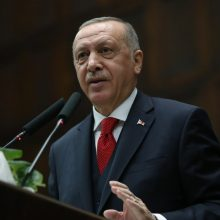 Turkijos prezidentas didina diplomatinį spaudimą dėl krizės Sirijoje
