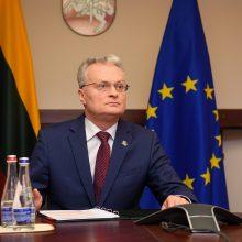 G. Nausėda kreipėsi į Lietuvos žmones: likite namuose, saugokite save