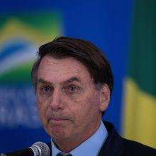 Brazilijos prezidentas J.Bolsonaras priemones prieš koronavirusą pavadino nusikaltimu