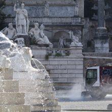 Italijoje per parą nuo koronaviruso infekcijos mirė 812 žmonių