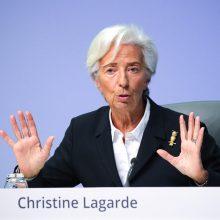 Ch. Lagarde ES lyderius perspėjo dėl grėsmės, jei krizės akivaizdoje darys per mažai