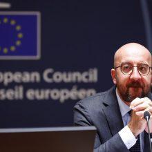 Ch. Michelio apsauginiui užsikrėtus COVID-19, atidedamas ES viršūnių susitikimas