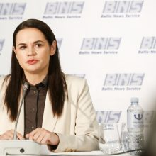 Baltarusijos opozicijos lyderė S. Cichanouskaja pasisakys JT Saugumo Tarybos posėdyje