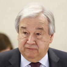"""JT vadovas: intensyvėjantis smurtas Mianmare """"absoliučiai nepriimtinas"""""""