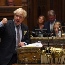 """B. Johnsonas: ES grasina JK išraižyti """"muitų sienas"""""""