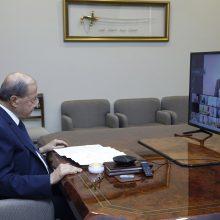 """Libano prezidentas perspėjo dėl """"pragaro"""", jei nebus suformuota nauja vyriausybė"""