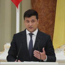 Ukrainos prezidentas perspėjo, kad Baltarusiją gali ištikti smurtinis likimas