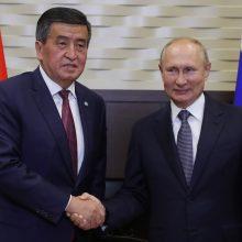 Kirgizijos prezidentas dar kartą paskelbė nepaprastąją padėtį