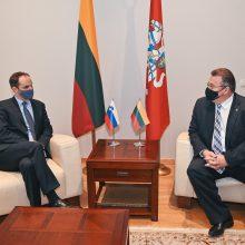 L. Linkevičius susitiko su Slovėnijos užsienio reikalų ministru