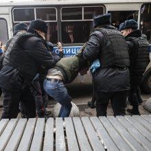 Maskvoje per dešiniojo sparno ekstremistų protestą sulaikyti 36 žmonės