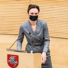 V. Čmilytė-Nielsen jau turi kandidatą į Seimo kanclerius