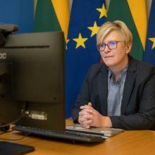 Lietuvos ir Norvegijos premjerės aptarė COVID-19 situaciją, akcentavo NB8 bendradarbiavimo svarbą