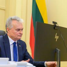 G. Nausėda ruošiasi deryboms su Turkijos prezidentu dėl migrantų krizės