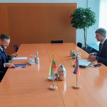 G. Landsbergis su Vokietijos kolega sutarė bendradarbiauti kovoje prieš dezinformaciją