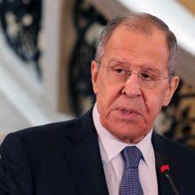 Rusija įspėja dėl ginklų tiekimo Ukrainai