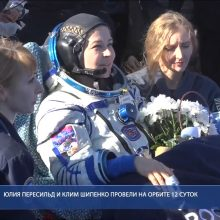 Į Žemę sugrįžo filmą kosmose filmavusi rusų komanda