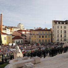 Portugalijos policininkai per eitynes reikalavo didinti atlyginimus