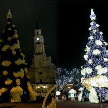 Kaunas pagerbė COVID-19 aukas: valandai išjungė Kalėdų eglę