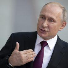 V. Putinas išreiškė susirūpinimą dėl džihadistų veiksmų Sirijos Idlibe