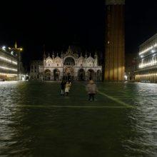 Didžiulio potvynio užlietoje Venecijoje paskelbta nepaprastoji padėtis