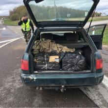 Greitkelyje sulaikytas cigarečių gabentojas užsitraukė baudžiamąją atsakomybę