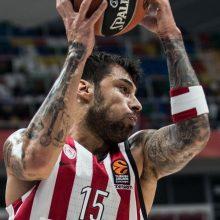 """""""Olympiakos"""" krepšininkai Eurolygoje nutraukė trijų pralaimėjimų seriją"""
