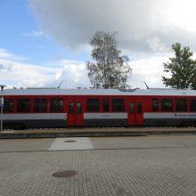 Traukiniai nuo sekmadienio kursuos žiemos tvarkaraščiu