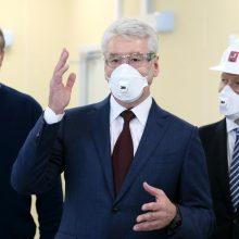 Maskva pirmadienį švelnins griežtą karantiną, sako meras S. Sobianinas