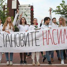 Baltarusijos VRM vadovas:  atsiprašau žmonių, kuriems kliuvo
