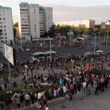 Baltarusijoje tęsiasi protesto akcijos, kol kas smurto neužfiksuota