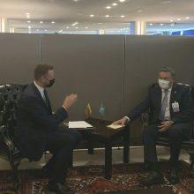 G. Landsbergis Niujorke su Kazachstano užsienio reikalų ministru aptarė situaciją regione