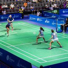Lietuvos badmintonininkės Europos žaidynėse startavo pralaimėjimais