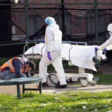 Niujorko valstijoje koronavirusas per parą pasiglemžė 779 gyvybes