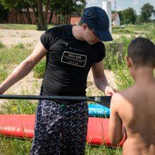 Rekordinis paramos plaukimas irklentėmis finišavo – vaikų svajonės išpildytos