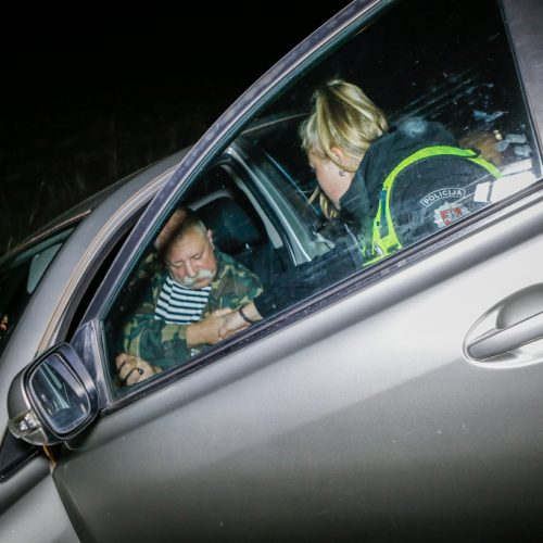 Girto vairuotojo nuotykiai pakeliui iš žvejybos  © Vytauto Petriko nuotr.
