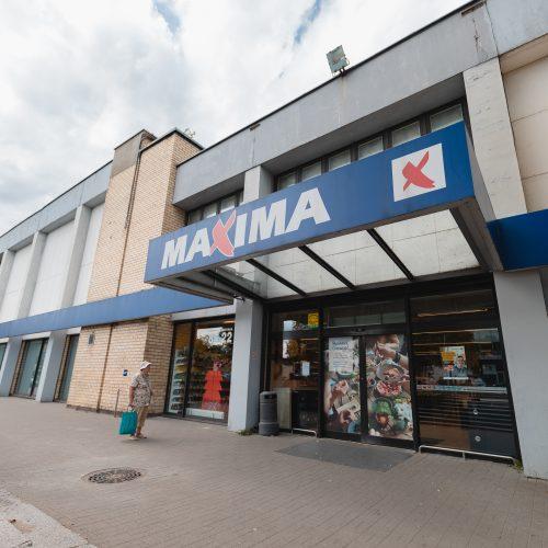 Apgriuvęs Kalniečių prekybos centro pastatas  © Eitvydo Kinaičio nuotr.