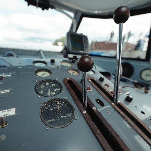"""Legendinė """"Raketa"""" pirmą kartą į Nidą išplaukė su keleiviais  © Eitvydo Kinaičio nuotr."""