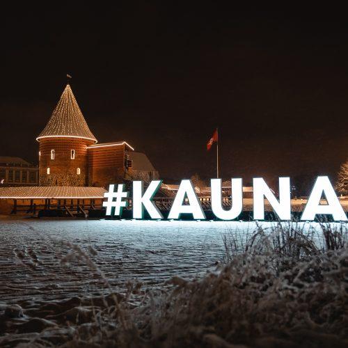 Sniegu pasidengęs žiemiškas Kaunas